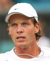 Tomas Berdych with chain