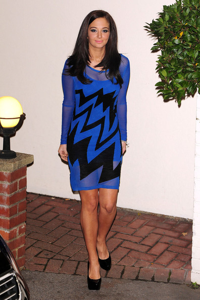 Tulisa Contostavlos at air mancur Studios in london