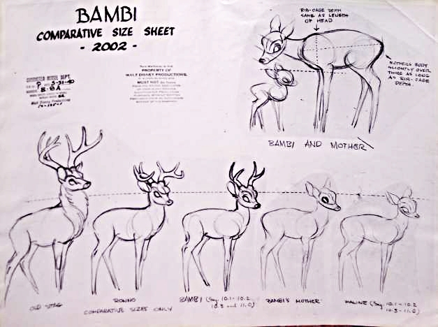 Walt Disney Model Sheets - Bambi