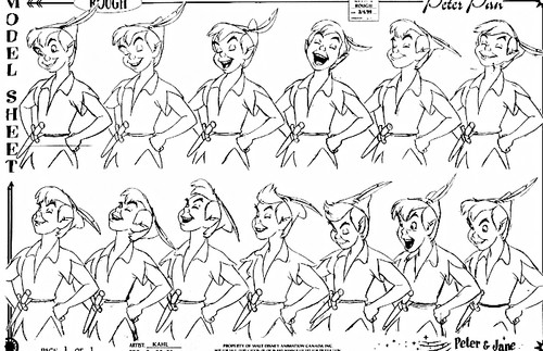 Walt Disney Model Sheets - Peter Pan