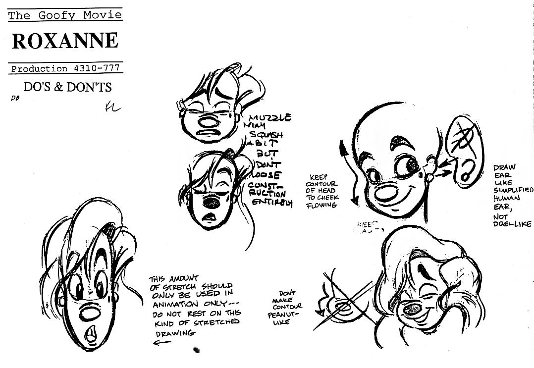 Walt Disney Model Sheets - Roxanne - Walt Disney Characters