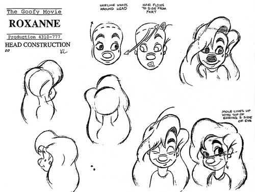 Walt Дисней Model Sheets - Roxanne