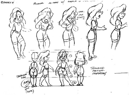 Walt ডিজনি Model Sheets - Roxanne