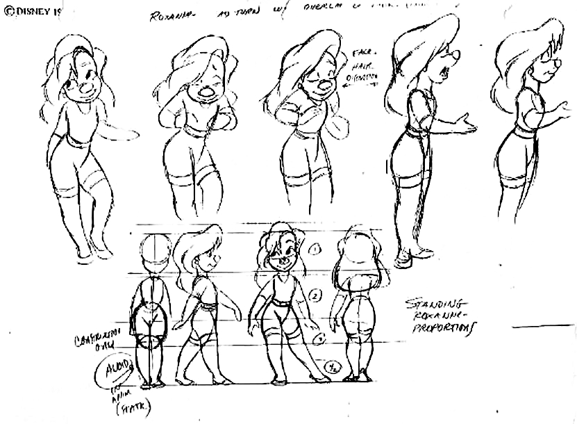 Disney Model Sheet Character Design Sketch Coloring Page