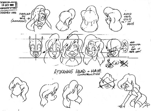 Walt 迪士尼 Model Sheets - Roxanne