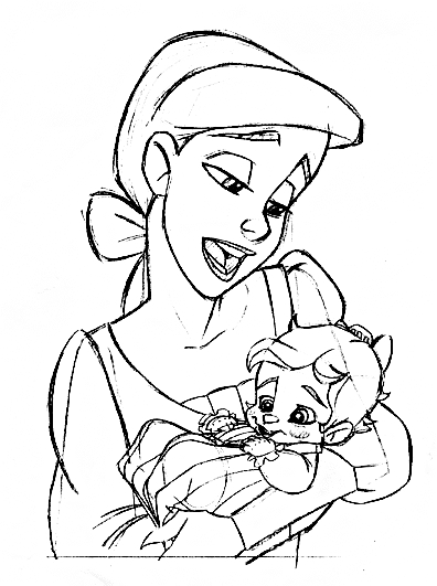 disneys baby ariel coloring pages - photo#29