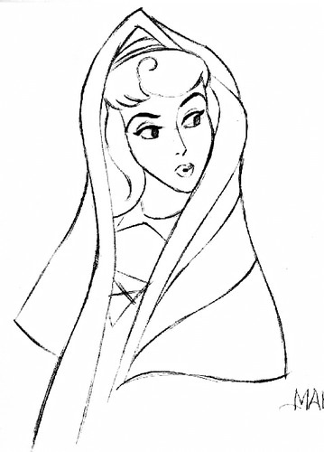 Walt Disney Sketches - Princess Aurora