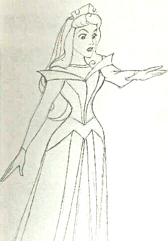 Walt Дисней Sketches - Princess Aurora