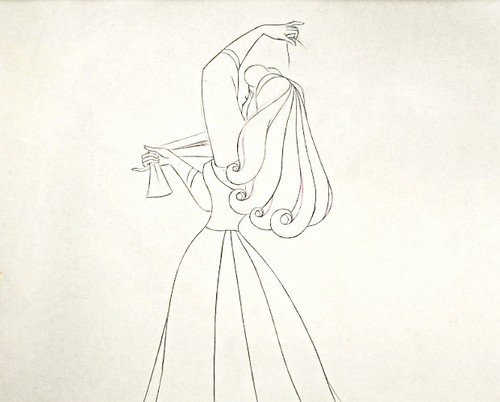 Walt ডিজনি Sketches - Princess Aurora