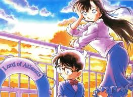 Shinichi Kudo and Ran Mouri wallpaper with anime titled detective conan shinishi ran