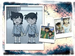Shinichi Kudo and Ran Mouri দেওয়ালপত্র with জীবন্ত entitled detective conan shinishi ran