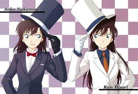 Shinichi Kudo and Ran Mouri দেওয়ালপত্র titled detective conan shinishiand ran
