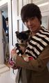 hoya with a little puppy