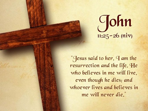 john11:25-26 - the-bible Photo