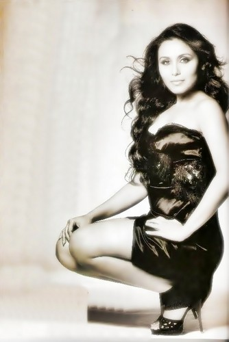 rani mukherjee wallpaper with bare legs, tights, and a bustier titled rani