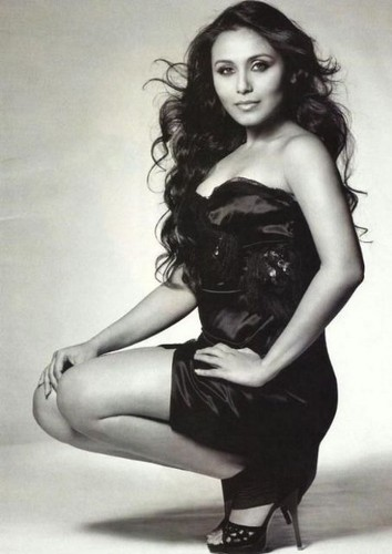 Rani Mukherjee kertas dinding containing a bustier, a leotard, and tights titled rani
