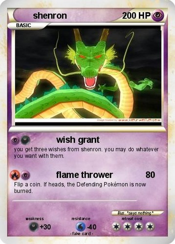 shenron card - dragon-ball-z Photo