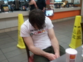 sleeping  - mcdonalds photo