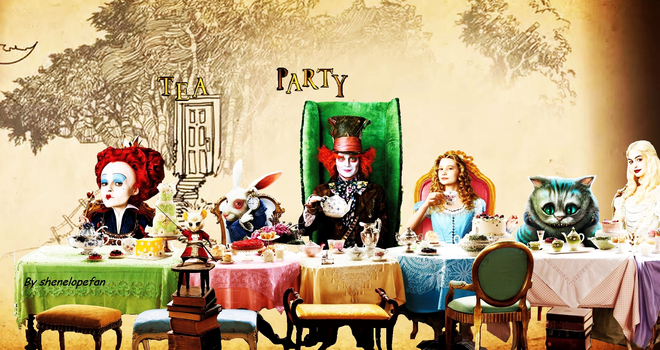 Alice In Wonderland Artwork wallpaper
