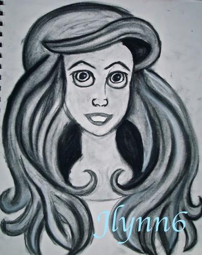 Ariel Charcoal Drawing
