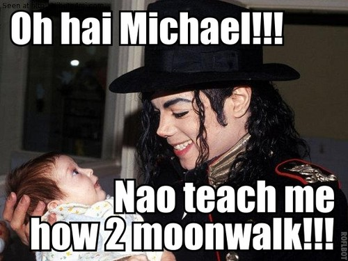 Baby moonwalk!