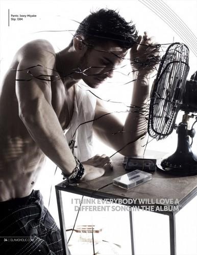Baptiste Giabiconi Shirtless & Ripped For Glamaholic