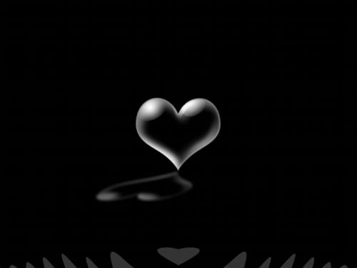 Black coração