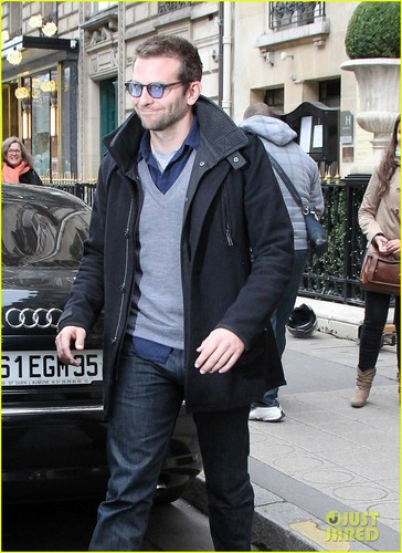 Bradley Cooper: Ralph Lauren Lunch in Paris