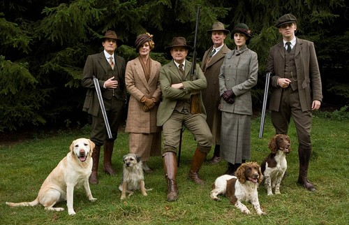 Downton Abbey wallpaper entitled Natale Special Hunting