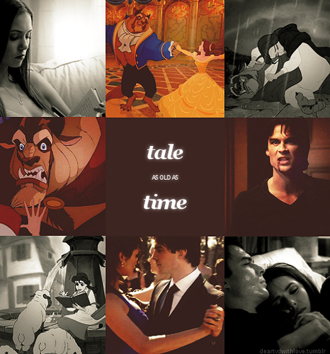 DAMON&ELENA-BEAUTY&THE BEAST♥ - disney-princess Fan Art