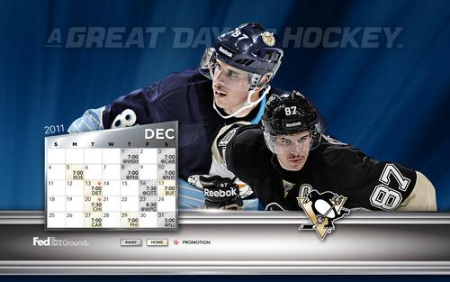 December 2011 Calendar/Schedule: Sidney Crosby