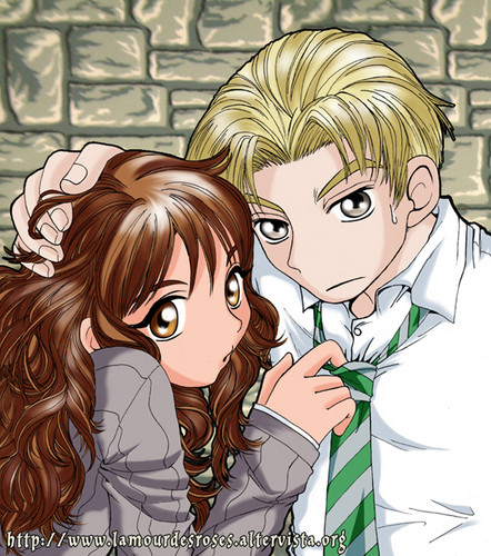 Dramione wallpaper with anime titled Draco_Hermione