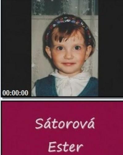 Ester Satorova when she was child !