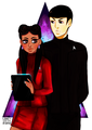 Favoritism - spock-and-uhura fan art