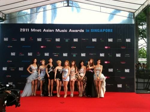 Girls' Generation Mnet Asian âm nhạc Awards Red Carpet
