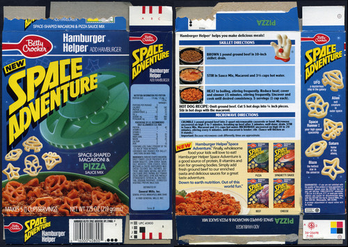 Hamburger Helper Space Adventure pasta