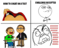 How to cheat on a test. - rage-comics photo