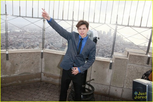 Jake T. Austin: Sky High at Empire State!