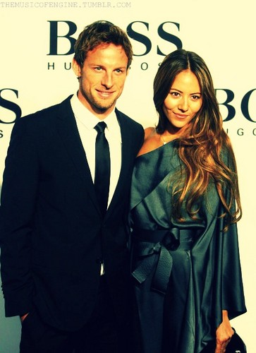 Jenson and i at Hugo Boss event