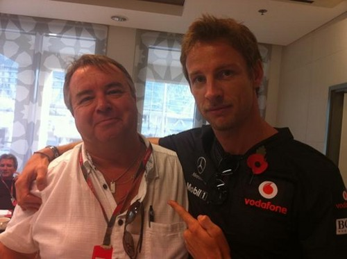 Jenson with my Uncle :)