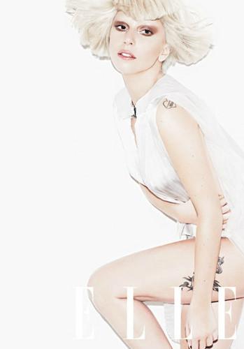 Lady Gaga- Elle photoshoot Von Matt Irwin
