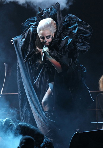 Lady Gaga performing live at Grammys Nominations tamasha