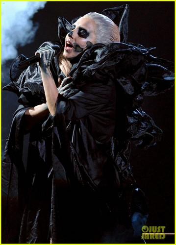 Lady Gaga performing live at Grammys Nominations concerto