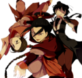 Mai Azula and Tylee anime style