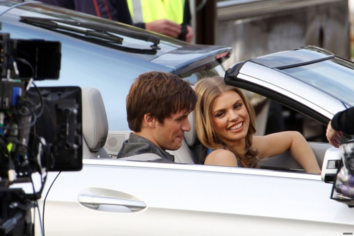 Matt & AnnaLynne on the set of s4
