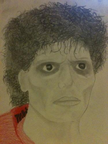 Michael Jackson Zombie Drawing