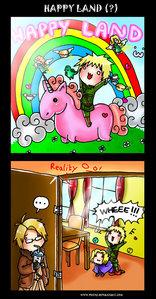 담홍색, 핑크 fluffy unicorn.