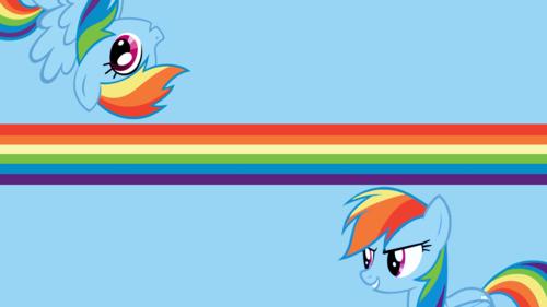arc en ciel Dash fond d'écran