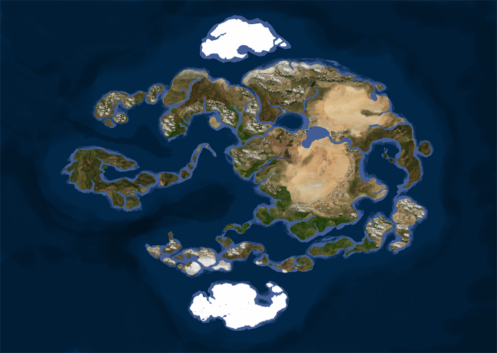 Map of The Four Nations Avatar New Beginning