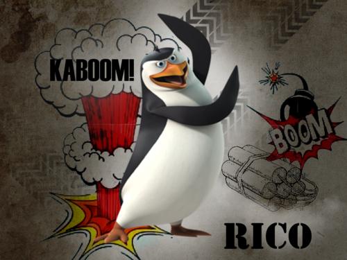 पेंग्विन्स ऑफ मॅडगास्कर वॉलपेपर possibly with ऐनीमे called Rico